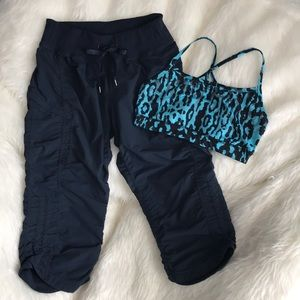 Zella Cropped Pants & Sport Bra Bundle